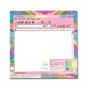 Creative Computer Game Machine Modeling Memo Pad Pink Girl Heart N Times Sticky Notes Bookmark Gift Stationery(Lightning background)