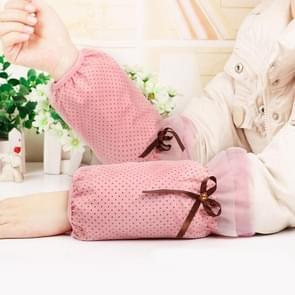 10 paren herfst en winter dot patroon mouwen vrouwen office mouwen volwassen anti-fouling schattige mouwen (roze)