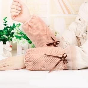 10 paren herfst en winter dot patroon mouwen vrouwen office mouwen volwassen anti-fouling schattige mouwen (Fel Oranje)
