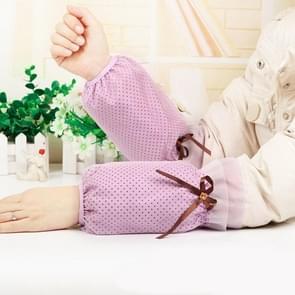 10 paren herfst en winter dot patroon mouwen vrouwen office mouwen volwassen anti-fouling schattige mouwen (Roland Purple)