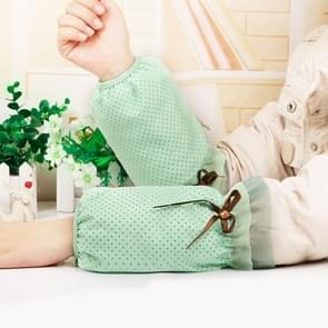 10 paren herfst en winter dot patroon mouwen vrouwen office mouwen volwassen anti-fouling schattige mouwen (Aqua Green)