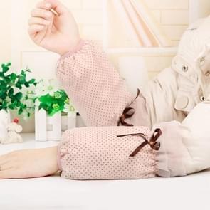 10 paren herfst en winter dot patroon mouwen vrouwen office mouwen volwassen anti-fouling schattige mouwen (Abrikoos Roze)