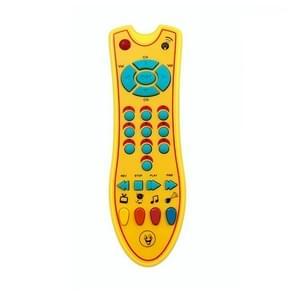 Gesimuleerde muziek TV afstandsbediening vroege educatieve speelgoed elektrische leren machine baby speelgoed (geel)