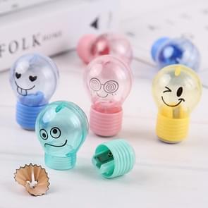 Lamp stijl potlood puntenslijpers creatieve emoties kunststof potlood Slijer  willekeurige kleur levering