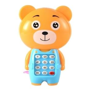 2 PCS Baby Electronic Toy Phone Children Animals Musical Mobile Phone Early Educational Toys for Baby Kids(Bear)