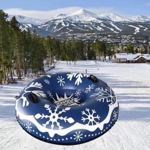100cm Snowflake Patroon Opblaasbare Ski Ring PVC Sneeuw Speelgoed Slee Ring