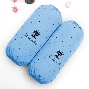 10 paren herfst en winter lange waterdichte mouwen keuken olie-proof mouwen vrouwen huishoudelijke hand mouwen (Crown-Light Blue)