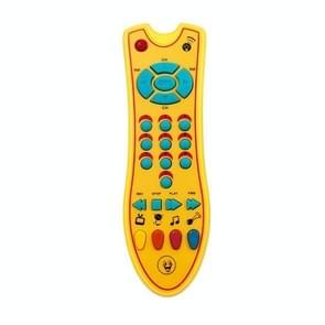 Baby speelgoed muziek mobiele telefoon TV afstandsbediening vroeg educatief speelgoed elektrische nummers Remote Learning machine (geel)