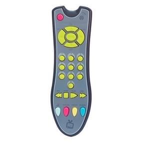 Baby speelgoed muziek mobiele telefoon TV afstandsbediening vroeg educatief speelgoed elektrische nummers Remote Learning machine (grijs)