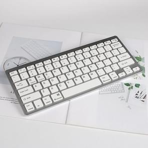 X5 Ultra-dunne Mini Wireless Bluetooth Keyboard  Support Win / Android / IOS System(Zilver)