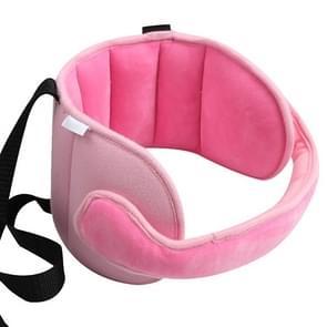 Kind autostoel hoofd ondersteuning comfortabele veilige slaap oplossing kussens nek reizen wandelwagen zachte Caushion (roze)