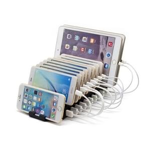 Olmaster AP-1010 Multi-Port USB Mobile Phone Charging Station with Power Supply  Aantal interfaces: 10 poorten(laadstation)
