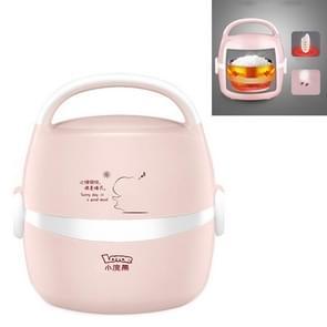 LOTOR Multifunctionele Elektrische Automatische Verwarming Lunch Box CN Plug  Kleur: Roze