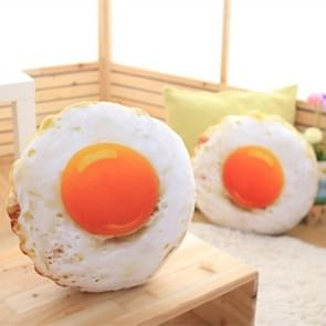 Simulation Stuffed Cotton Soft Fried Egg Cushion Sleeping Pillow Plush Baby Toys(38cm)