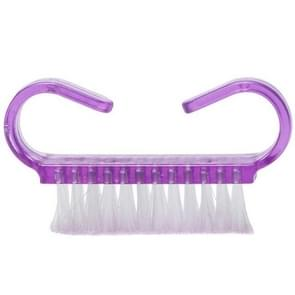10 PCS Cleaning Brush Tools Nail Art Care Manicure Pedicure Remove Dust Small Angle Clean Brushes(Purple)