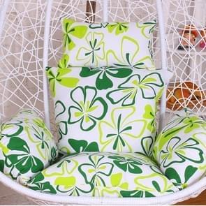 Courtyard Garden Hanging Basket Chair Rocking Chair Sponge Swing Seat Cushion, Size:140x105x10cm(Green)