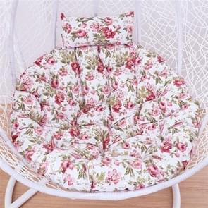 Courtyard Garden Hanging Basket Chair Rocking Chair Sponge Swing Seat Cushion, Size:110x100x10cm(Pink)