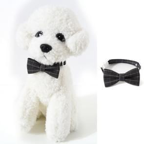 4 PCS Pet Sub-Bow Tie Verstelbare Cat Dog Collar Accessoires  Style:Bowknot  Maat:S 17-32cm(Grijs)