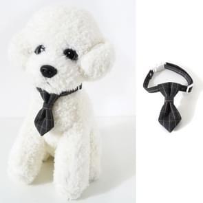 4 PCS Pet Sub-Bow Tie Verstelbare Cat Dog Collar Accessoires  Style:Tie  Maat:S 17-32cm(Grijs)