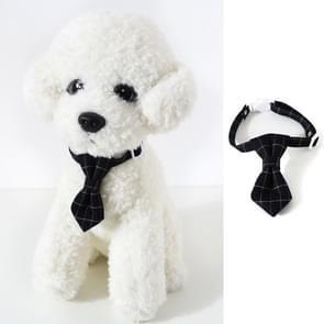 4 PCS Pet Sub-Bow Tie Verstelbare Cat Dog Collar Accessoires  Style:Tie  Maat:S 17-32cm(Zwart)