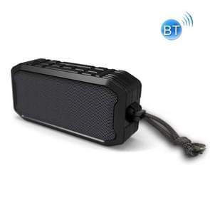 F8 IP67 Waterdichte Outdoor Sports Wireless Card Bluetooth Speaker(Zwart)