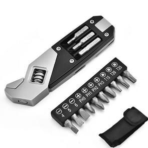 Roestvrijstalen verstelbare moersleutel opvouwbare Allen moersleutel multifunctionele moersleutel met schroevendraaier