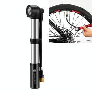 FIETSENBOX Fietsen Motorfietsen elektrische fietsen met barometer pompen draagbare opblaasbare luchtpomp fietsaccessoires (Zilver)
