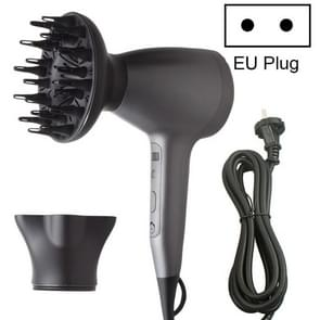 Lescolton 9809 Household Smart High-power Cold Hot Wind Leafless Negative Ion Hair Dryer met Hair Comb  Plug Type:EU Plug(Black)