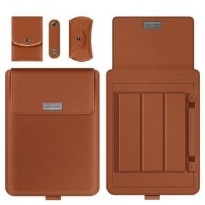 A2 4 in 1 Computer Bracket Liner Bag Storage Bag  Grootte:11/12 inch (Bruin)