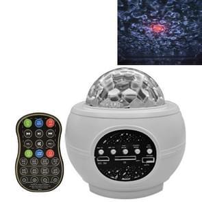 M2 8W Christmas Starry Sky Laser Projectie Sfeer Licht roterende Starry Dynamic Water Pattern Slaaplicht  Specificatie: Batterij (Wit)