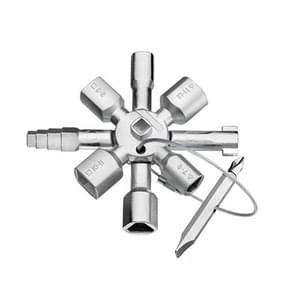 10 In1 Multifunctionele Driehoek Sleutelsleutel Lift Water meter cross key