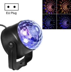 MGY-019 6W Afstandsbediening LED Crystal Magic Ball Licht kleurrijk roterende stage laserlicht  specificatie: EU Plug