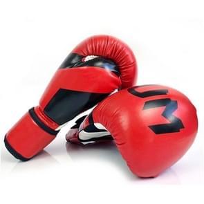 NW-036 Bokshandschoenen Volwassen Professionele Trainingshandschoenen Vechthandschoenen Muay Thaise vechthandschoenen  grootte: 6oz (Rood)