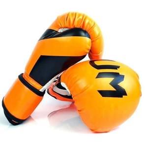NW-036 Bokshandschoenen Volwassen Professionele Training Handschoenen Vechthandschoenen Muay Thaise vechthandschoenen  grootte: 6oz (Fluorescerend Oranje)