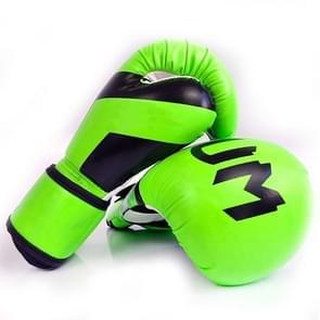 NW-036 Bokshandschoenen Volwassen Professionele Training Handschoenen Vechthandschoenen Muay Thaise vechthandschoenen  grootte: 10oz (Fluorescent Green)