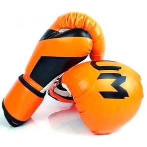 NW-036 Bokshandschoenen Volwassen Professionele Training Handschoenen Vechthandschoenen Muay Thaise vechthandschoenen  grootte: 10oz (Fluorescerend Oranje)