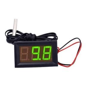 50 ~ 110C LED temperatuur meter detector sensor sonde 12V digitale thermometer monitor tester (groen)