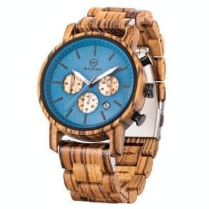 MUJUZE ME-1012 Mannen Multifunctioneel houten horloge (Zebra Hout)
