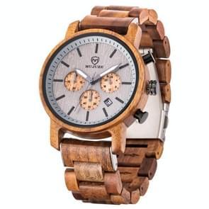 MUJUZE ME-1012 Mannen Multifunctioneel houten horloge (Acacia)