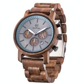 MUJUZE ME-1012 Mannen Multifunctioneel houten horloge(Walnoot)