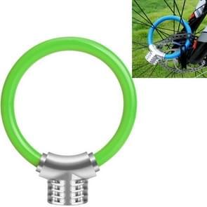 Fiets ring slot anti-diefstal slot fiets draagbare mini veiligheidsslot racket slot vet kabelslot  kleur: groen