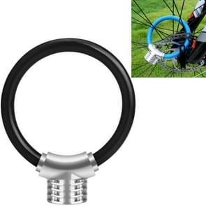 Fiets ring slot anti-diefstal slot fiets draagbare mini veiligheidsslot racket slot vet kabelslot  kleur: zwart