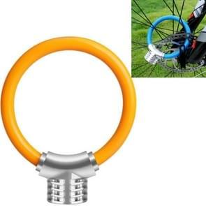 Fiets ring slot anti-diefstal slot fiets draagbare mini veiligheidsslot racket slot vet kabelslot  kleur: Oranje
