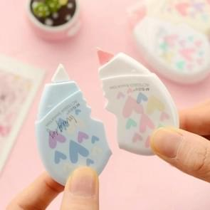2 PCS/Pair Love Heart Correction Tape Kawaii Stationery Office School Supplies(Length: 5 meters (one card total 10 meters))