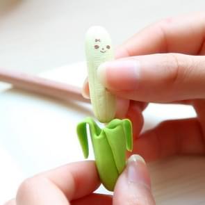5 PC'S leuke banaan fruit stijl rubber potlood gum studenten briefpapier school supplies willekeurige kleur levering