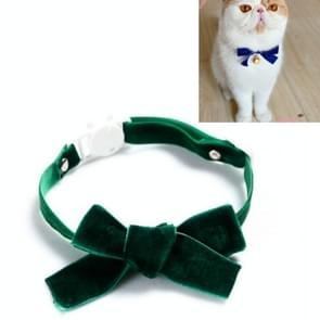 5 PCS Velvet Bowknot Verstelbare Pet Collar Cat Dog Rabbit Bow Tie Accessoires  Maat: S 17-30cm  Style:Bowknot(Groen)