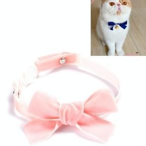 5 PCS Velvet Bowknot Verstelbare Pet Collar Cat Dog Rabbit Bow Tie Accessoires  Maat: S 17-30cm  Style:Bowknot (Roze)