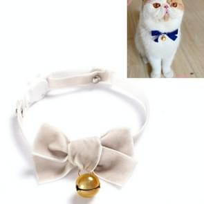 5 PCS Velvet Bowknot Verstelbare Pet Collar Cat Dog Rabbit Bow Tie Accessoires  Maat: S 17-30cm  Style:Bowknot with Bell(Gray)