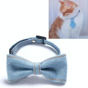 4 PCS Pet Cowboy Bow Tie Collar Cats Honden verstelbare tie collars huisdier accessoires benodigdheden  grootte: S 16-32cm  Stijl: Kleine Bowknot (Lichtblauw)