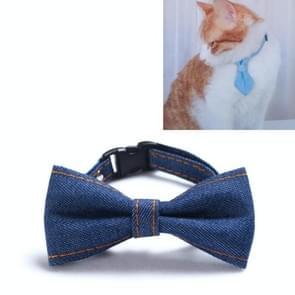4 PCS Pet Cowboy Bow Tie Collar Cats Honden verstelbare tie collars huisdier accessoires benodigdheden  grootte: S 16-32cm  Stijl: Kleine Bowknot (Donkerblauw)